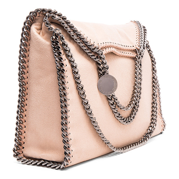 STELLA MCCARTNEY Falabella Shaggy Deer Fold Over Tote - Shaggy deer fabric with signature print poly lining and