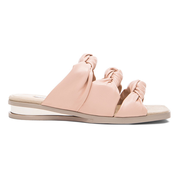 STELLA MCCARTNEY Knot faux leather sandals - Faux leather upper and sole.  Made in Spain.  Approx 25mm/...