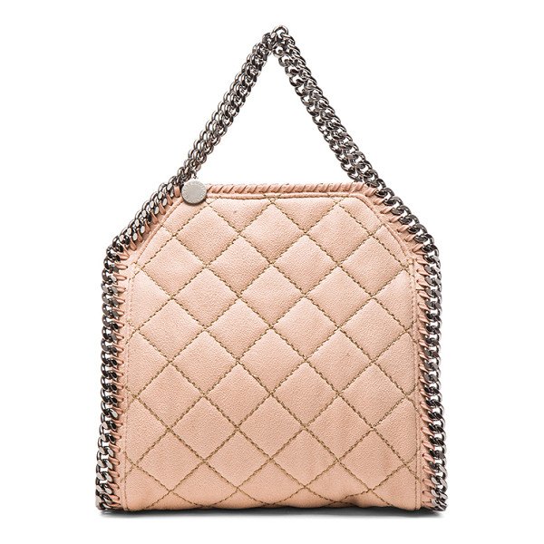 STELLA MCCARTNEY Falabella quilted shaggy deer tiny tote - Quilted shaggy deer fabric with signature print poly lining...
