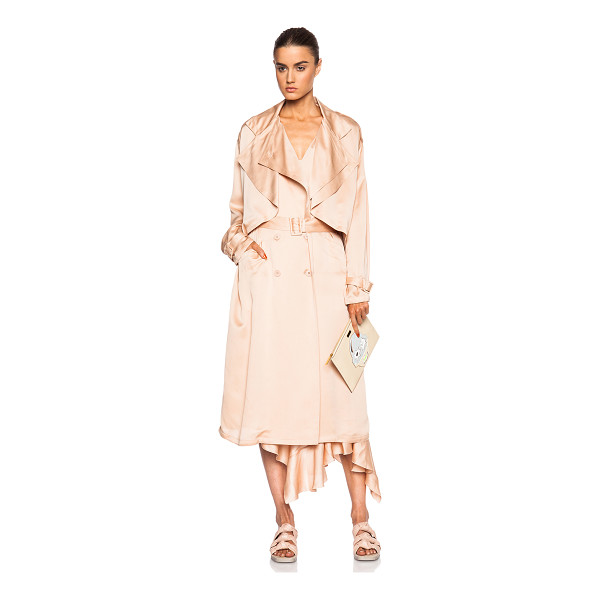 STELLA MCCARTNEY Trench coat - 100% silk.  Made in Hungary.  Button front closures. ...