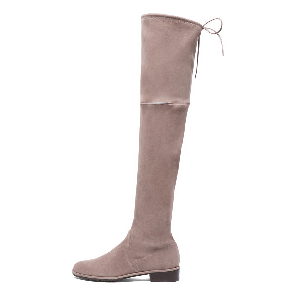 STUART WEITZMAN Lowland Suede Boots - Suede upper with rubber sole.  Made in Spain.  Shaft