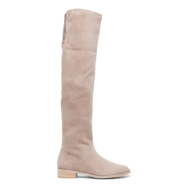 STUART WEITZMAN Rockerchic Suede Boots - Suede upper with rubber sole.  Made in Spain.  Shaft
