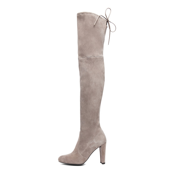 STUART WEITZMAN Highland Suede Boots - Suede upper with rubber sole.  Made in Spain.  Shaft