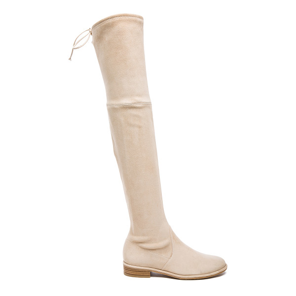 STUART WEITZMAN Suede Lowland Boots - Suede upper with leather sole.  Made in Spain.  Shaft...