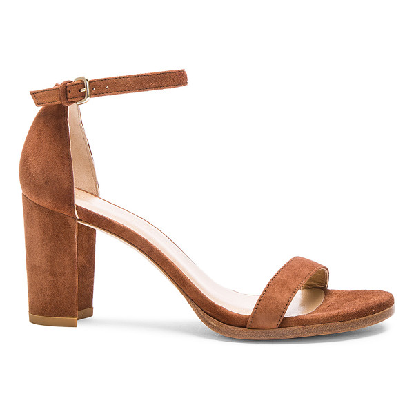 STUART WEITZMAN Suede Nearly Nude Heel - Suede upper with leather sole.  Made in Spain.  Approx...