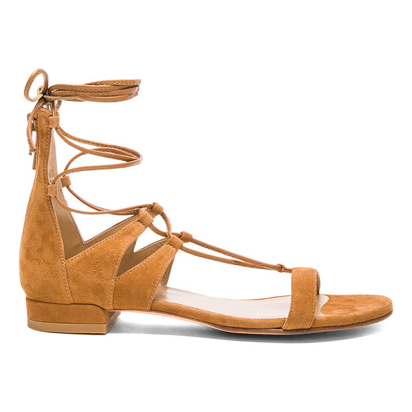 STUART WEITZMAN Suede tie up sandals - Suede upper with leather sole.  Made in Spain.  Approx...