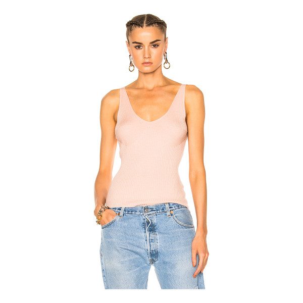 T BY ALEXANDER WANG Rib Cropped Tank Top - 100% merino wool.  Made in China.  Dry clean only.  Rib...
