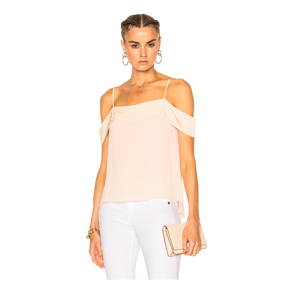 T BY ALEXANDER WANG Silk Pleated Off The Shoulder Top - 100% silk - Lining: 100% poly.  Made in China.  Dry clean...