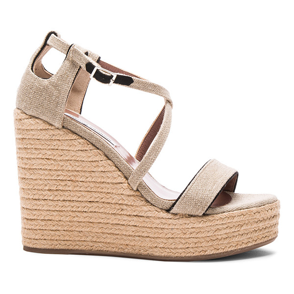 TABITHA SIMMONS Linen jenny wedges - Linen fabric upper with rubber sole.  Made in Italy. ...