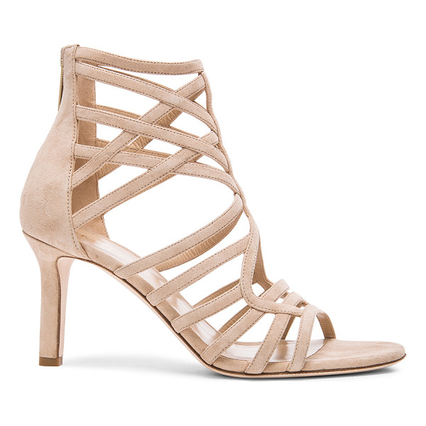 TAMARA MELLON Goddess Nappa & Suede Sandals - Suede upper with leather sole.  Made in Italy.  Approx