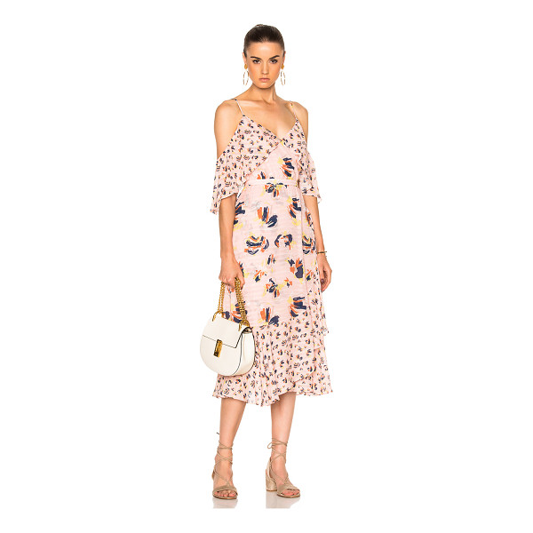 TANYA TAYLOR Floral Amylia Dress - Self: 100% silk - Lining: 100% poly.  Made in China.  Dry...