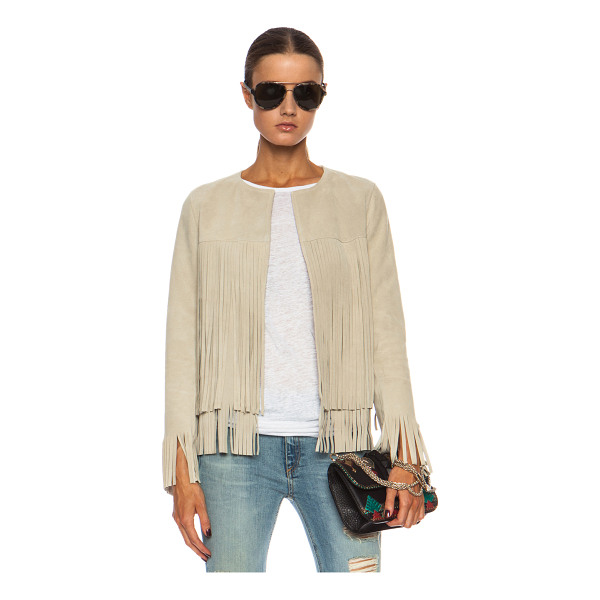 THEPERFEXT April fringe suede jacket - ThePerfext is a collaboration between Elyse Walker and...