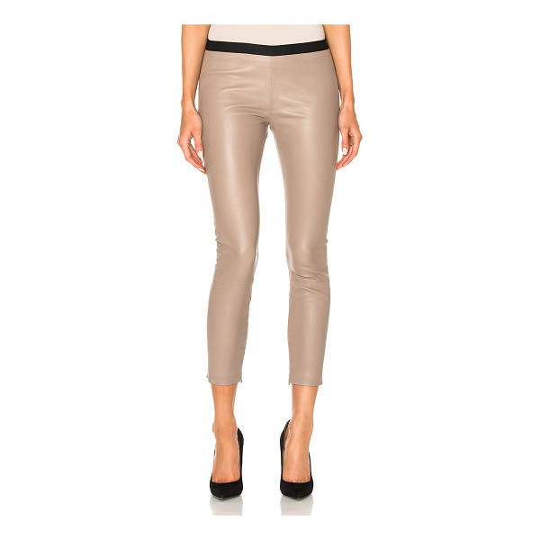 THEPERFEXT Brittany Cropped Pant - Self: 100% genuine leatherLining: 100% acetate. Made in...