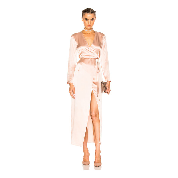 THEPERFEXT for FWRD Elyse Wrap Dress - 100% silk. Made in USA. Dry clean only. Unlined. Wrap...