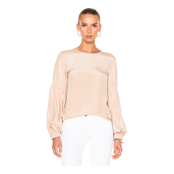 TIBI Balloon Sleeve Top - Self & Lining: 100% silk.  Made in China.  Dry clean only. ...
