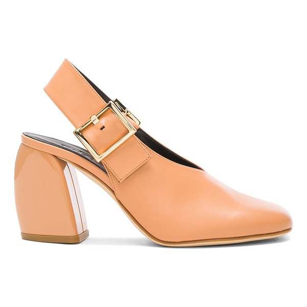 TIBI Leather Jillian Heels - Leather upper and sole. Made in Italy. Approx 75mm/ 3 inch