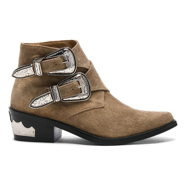 TOGA PULLA Buckle Suede Booties - Suede upper with leather sole.  Made in Portugal.  Approx...