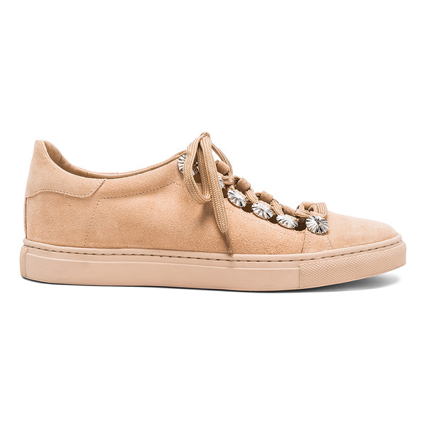 TOGA PULLA Studded Suede Sneakers - Suede upper with rubber sole.  Made in Portugal.  Lace up...