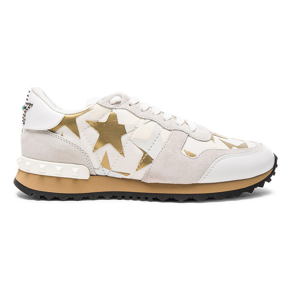VALENTINO Canvas & Suede Sneakers - Canvas and suede upper with rubber sole.  Made in Italy. ...
