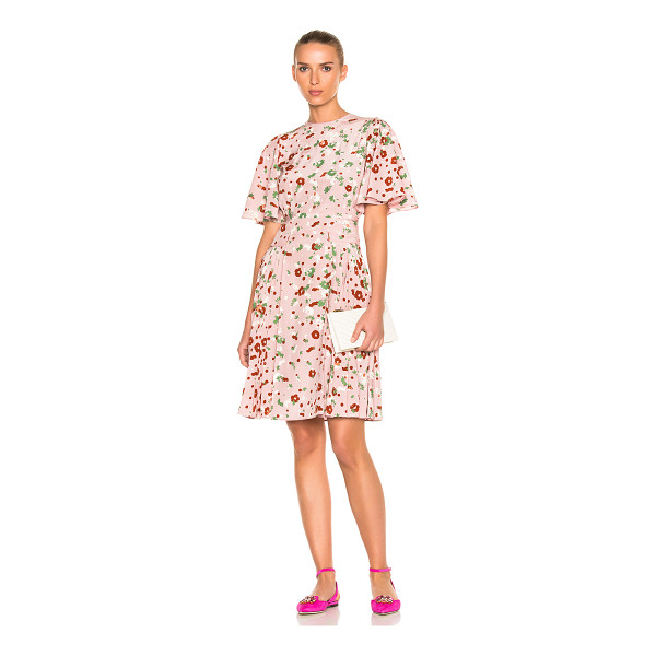 VALENTINO Daisy Print Crepe de Chine Mini Dress - Self: 100% silkLining: 91% silk 9% elastan. Made in Italy....