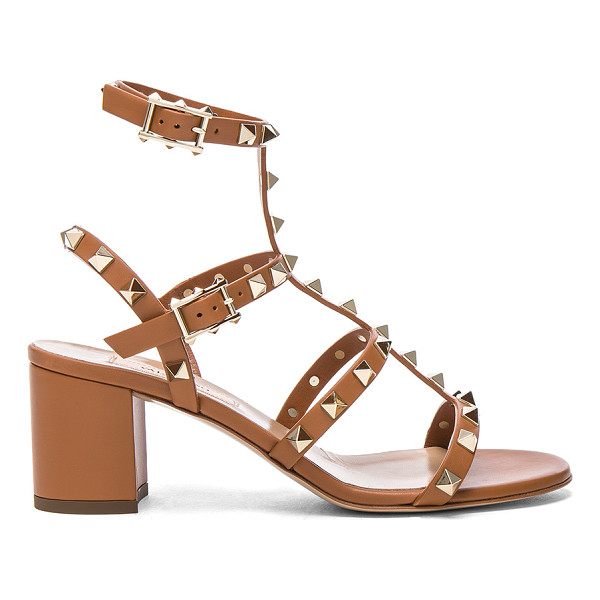 VALENTINO Leather Rockstud Sandals - Leather upper and sole.  Made in Italy.  Approx 65mm/ 2.5...