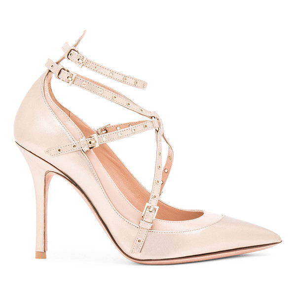 VALENTINO Love Latch Ankle Strap Leather Heels - Leather upper and sole.  Made in Italy.  Approx 100mm/ 4...