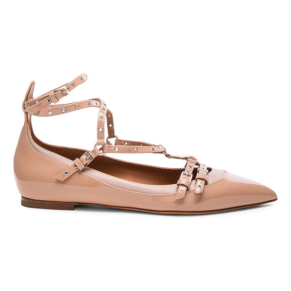 VALENTINO Love Latch Patent Leather Ballerina Flats - Patent leather upper with leather sole.  Made in Italy. ...