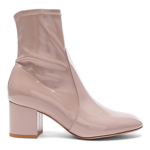 VALENTINO Patent Leather Booties - Patent leather upper with leather sole.  Made in Italy. ...