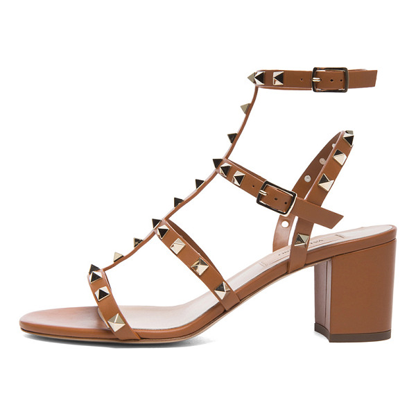 VALENTINO Rockstud leather sandals t.60 - Leather upper and sole.  Made in Italy.  Approx 65mm/ 2.5...