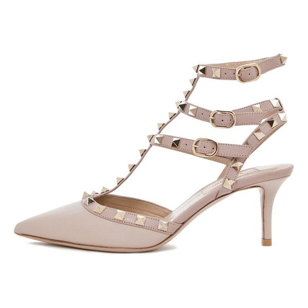 VALENTINO Rockstud leather slingbacks t.65 - Leather upper and sole.  Made in Italy.  Approx 60mm/ 2.5...