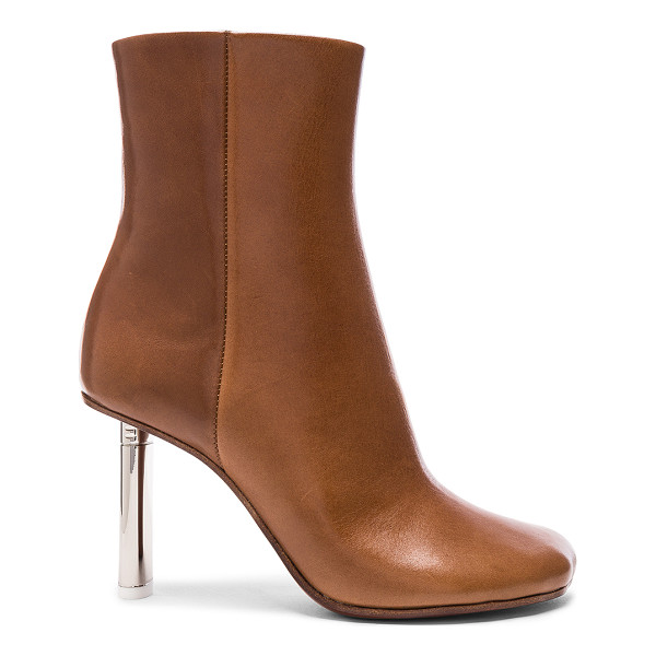 VETEMENTS Leather Toe Ankle Boots - Leather upper and sole.  Made in Italy.  Shaft measures