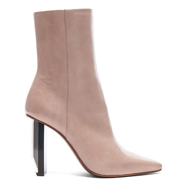 VETEMENTS Reflector Heel Leather Ankle Boots - Leather upper and sole.  Made in Italy.  Shaft measures...