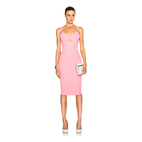 VICTORIA BECKHAM Cami cut out fitted dress - Self: 50% silk 50% wool - Lining: 100% cotton - Contrast...