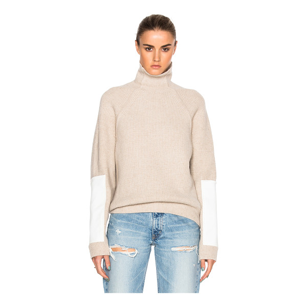 VICTORIA BECKHAM Lambswool Military Patch Sleeve Jumper - Self: 100% woolContrast Fabric: 65% poly 35% cotton. Made...