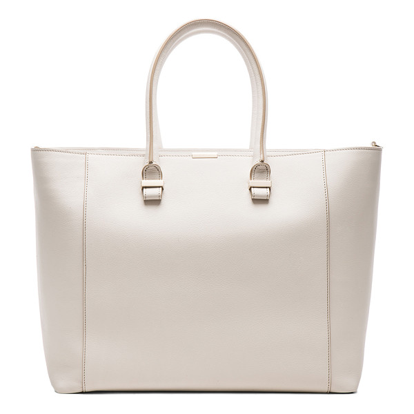 VICTORIA BECKHAM Liberty tote - Buffalo and calfskin leather with canvas lining and pale...