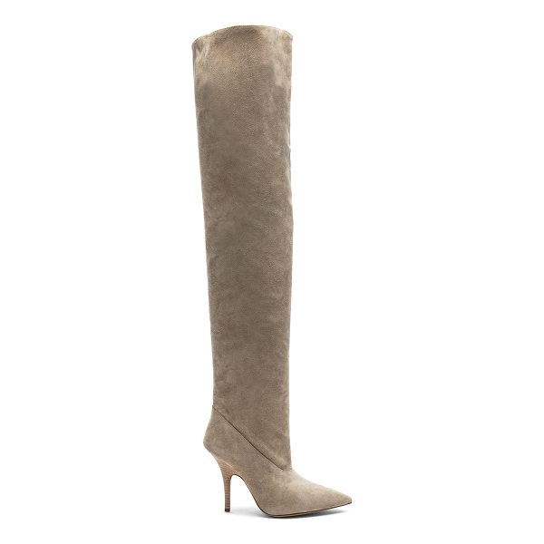 YEEZY Season 5 Suede Tubular Thigh High Boots - Suede upper with leather sole.  Made in China.  Shaft...