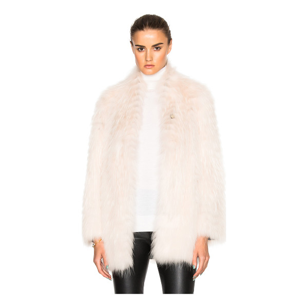 YVES SALOMON Asiatic Racoon Jersey Jacket - Self: 100% real dyed Asiatic raccoon fur - Contrast Fabric:...