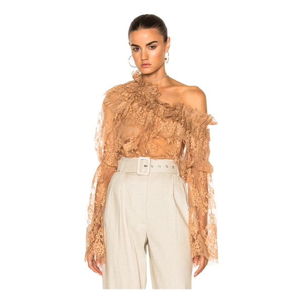ZIMMERMANN Bowerbird Lace Blouse - 60% cotton 40% polyamide. Made in China. Dry clean only....