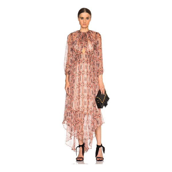 ZIMMERMANN Empire Heiress Dress - Self: 100% silk - Lining: 100% poly.  Made in China.  Fully...