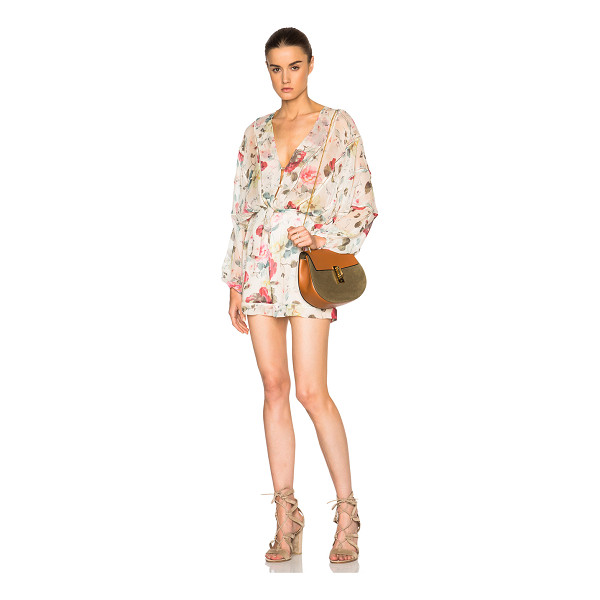 ZIMMERMANN Mischief ladder romper - Self: 100% silk - Lining: 100% poly.  Made in China.  Sheer...