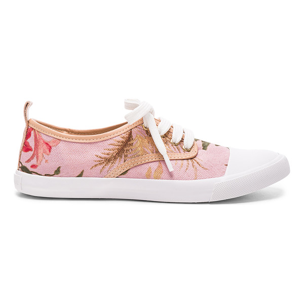 ZIMMERMANN Print Sneakers - Tapestry upper with rubber sole.  Made in Brazil.  Leather...