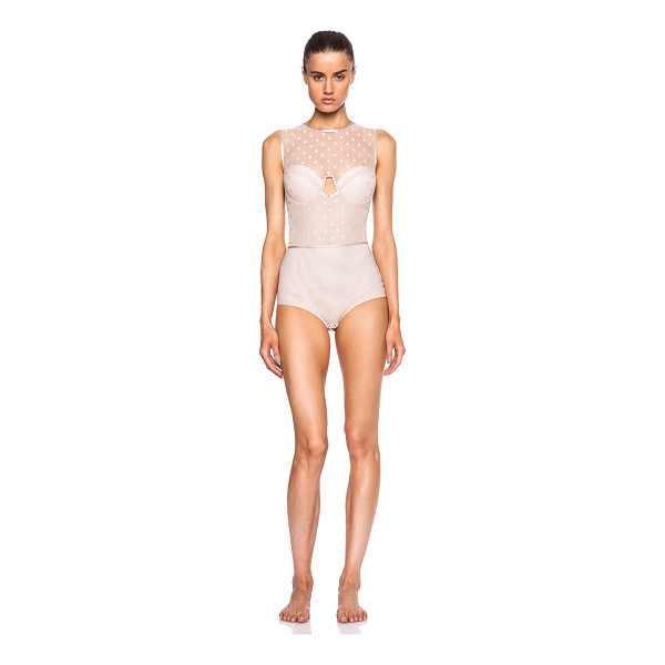 ZIMMERMANN Seer floating bra bodysuit - Self: 92% poly 8% elastan - Contrast Fabric: 94% nylon 6%...