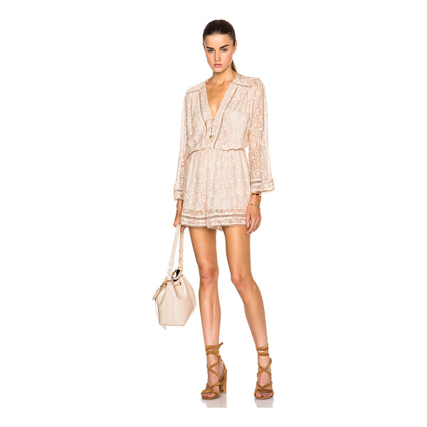 ZIMMERMANN Vine playsuit - Self: 100% silk - Lining: 100% poly - Contrast Fabric: 100%...