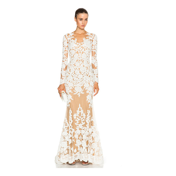 ZUHAIR MURAD Lace Mermaid Gown - 50% polyamide 50% silk.  Made in Lebanon.  Fully lined. ...
