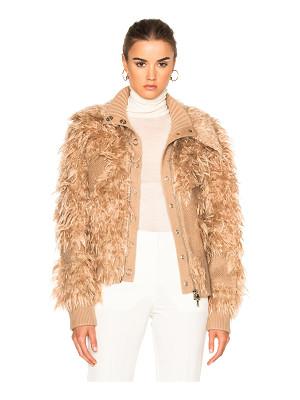 3.1 Phillip Lim Double Collar Faux Fur Bomber Jacket