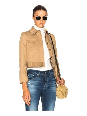 ALEXACHUNG Cropped Patch Pocket Jacket