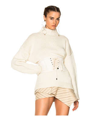 ALEXANDER MCQUEEN Chunky Knit High Neck Sweater