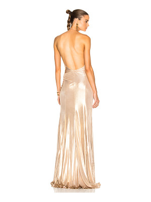 Alexandre Vauthier Jersey Crossover Halter Gown