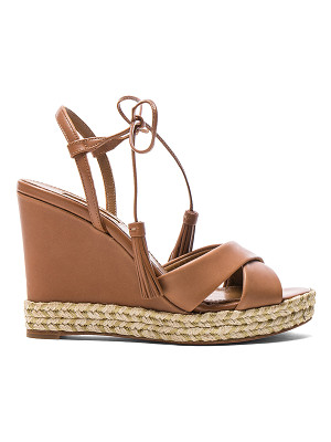 AQUAZZURA Leather Paraty Espadrille Wedges