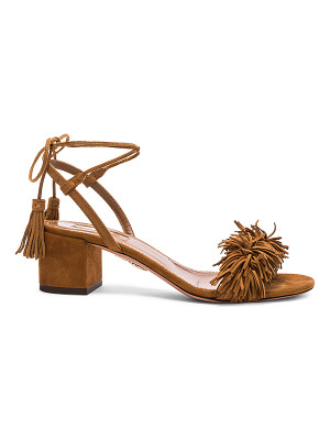 AQUAZZURA Suede Wild Thing Sandals
